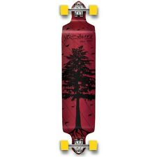 Yocaher Complete In The Pines Series Drop Down Longboard Red