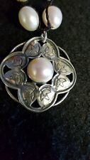 NEW SILPADA STERLING SILVER 925 RHYANNON PEARL FLOWER PENDANT NECKLACE 16""