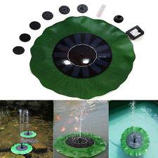 US Floating Lotus-Shaped Solar Powered Water Pump Fountain Pond Bird Bath Tank