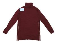 Marks & Spencer Womens Size 10 Wool Blend Burgundy Lightweight Jumper (Regular)