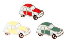 Citroen 2CV Pin Badge Set - Green, Red & Cream - P108S