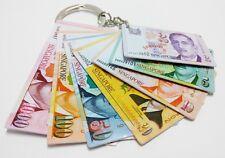 Rare Singapore President Yusof Banknotes Mini Specimen $1-$1000 Keychain (A470)