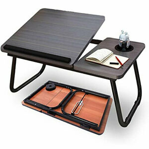 Foldable Desk Stand Liftable Laptop Table Stable Anti-slip Indoor Bed