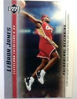 2003 03-04 Upper Deck Phenomenal Beginning LeBron James Rookie RC #13, Cavs MVP
