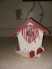 Deluxe Bird House With Metal Roof Lots Of Decorations