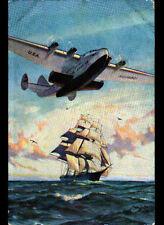 AVIATION AVION Américain ,PAN AMERICAN AIRWAYS SYSTEM illustré Gordon GRANT 1939