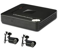 CCTV 4 canaux 500 Go H.264 réseau D1 Mini DVR HDMI Système & 2 X CMOS Caméras