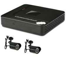 Cctv 500GB 4 canales H.264 D1 Network Red MINI DVR HDMI Sistema & 2 x cámaras CMOS