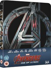 Avengers 2 Age Of Ultron 3D Limited Edition Steelbook Blu-ray 3D UK Exclusive