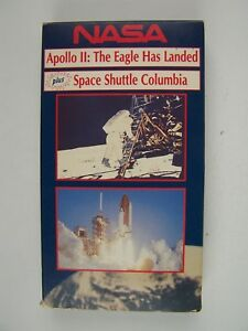 NASA Apollo 2 The Eagle Has Landed & Space Shuttle Columbia VHS Video Tape