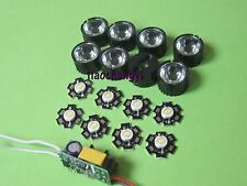 20pcs 3w led higt power +10pcs 45degree lens +6-10x3w led driver for diy