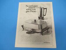 1968 No unhappy returns when you give Presto Print Ad, PA011