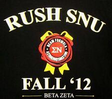BETA ZETA fraternity lrg T shirt Sigma Phi Delta booze logo 1795 Wright State