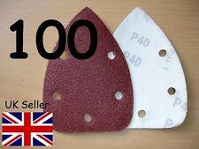 100 Almohadillas Lijadora Palma detalle Velcro Hojas De Lija Discos Grano 60 80 120 240