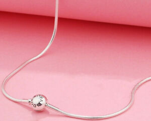 AUTHENTIC PANDORA NECKLACE SILVER ESSENCE COLLECTION CHAIN #596004-45 17.7IN