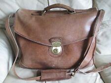 HIDESIGN Large Tan Brown Leather Satchel / Crossbody Messenger Shoulder Bag