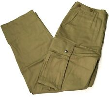 WWII US AIRBORNE PARATROOPER UNREINFORCED M42 JUMP TROUSERS-LARGE