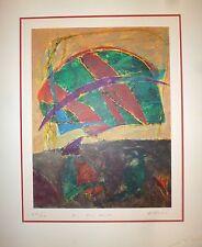 Danier Humair Lithographie signée numérotée art abstrait abstraction