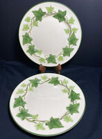 "Set of 2 FRANCISCAN IVY Dinner Plates California USA Made Dishes 10 1/4"" Vintage"