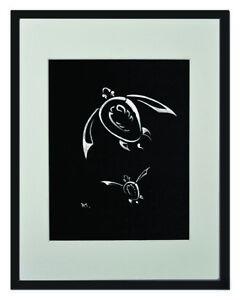 "Marine Turtle White Matted Print 11""x14"", framed or unframed."