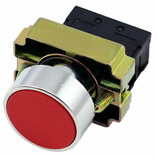 22mm Panel Mount Metal Push Button Red Momentary Switch 2 Pos. 400V