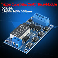 Led Dc 5V~36V Dual Mos Control Cycle Trigger Timer Delay Relay Module Switch &LO