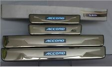For Honda Accord 2003-2007 BLUE LED Light Stainless Door Sill plate Guard