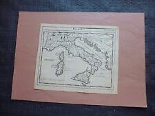 Carte géographique ancienne du 18°:  ITALIE