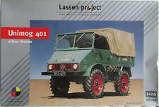 Bausatz Unimog 401 offene Version von Lassen project 08000 im Maßstab 1:24