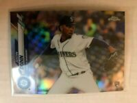 2020 Topps Chrome Silver Refractor Justin Dunn Rookie RC #136 Seattle Mariners