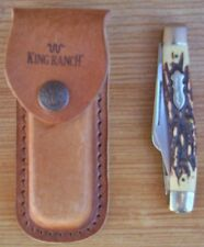 Schrade, Uncle Henry, King Ranch Knife, Model # 885Uh, & King Ranch Sheath (Lot)