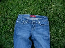 "WOMENS GUESS JEANS STRAIT LEG SZ 27 MEDIUM Wash  MID RISE COTTON 33"" inseam"