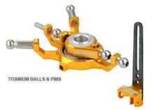 Microheli Blade 130x Titanium X Swashplate w/ Anti-Rotation Guide combo GOLD