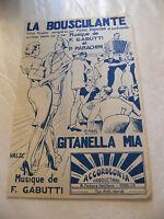 Partition La Bousculante Gitanella Mia F Gabutti Music Sheet