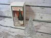 FENTON 6.5 inch Handmade Glass Christmas Tree (Clear) NIB *RARE*