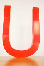 U Fassaden Schrift Buchstabe Aluminum Rot 45 cm Werbung Beschriftung