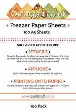 Quiltcraft's Freezer Paper Sheets x 100 - A5 -SIZE BARGAIN