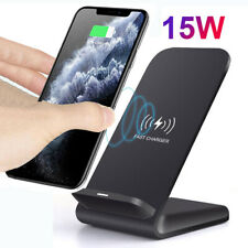 15W Qi Wireless Charger for Samsung S10+ iPhone 11 Pro Max Fast Charging Stand
