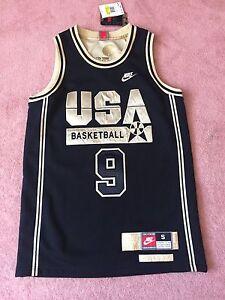 Nike USA Olympic Dream Team Michael Jordan Jersey Black Metallic Gold OVO DMP 1