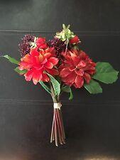 Red Silk Flowers , Red Peonies Bouquet, New! Unused!