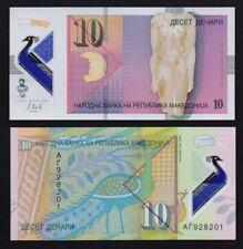 Macedonia – P#new 10 Denari 2018 Polymer Banknote.