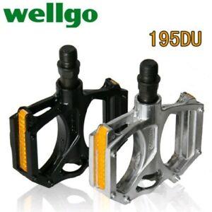 Wellgo M195 Road MTB Bike Bearing Pedal Mountain Cruiser Bicycle DU Flat Pedals