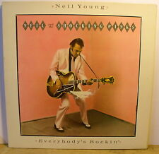 NEIL YOUNG and the SHOCKING PINKS - EVERYBODY'S ROCKIN' - LP NEVER PLAYED**