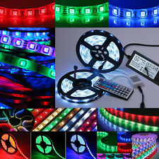 1-30m RGB LED Stripe 5050 SMD Strip Streifen wasserdicht Band Lichtband+Netzteil