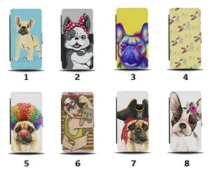 French Bulldog Flip Wallet Case Bull Dog Dogs Puppy Pet Little Funny Face 8025c