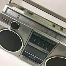 VINTAGE PANASONIC RX-5050 BOOMBOX Cassette TAPE Recorder AM/FM Radio ~ Works!