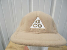 NIKE X ACG ALL CONDITIONS GEAR BEIGE 5 PANEL SEWN STRAPBACK CAP HAT NEW W/ TAGS