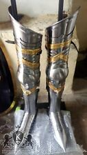Gothic Steel Plates Armour Leg Protection Medieval Collectibles Reproduction 18K