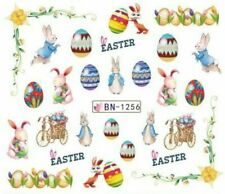 Nail Art Water Decals Stickers Transfers Easter Bunny Peter Rabbit Eggs (BN1256)