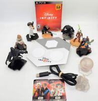 PS3 Disney Infinity 3.0 Star Wars Game, Portal Figures Lot Darth Vader Boba Fett